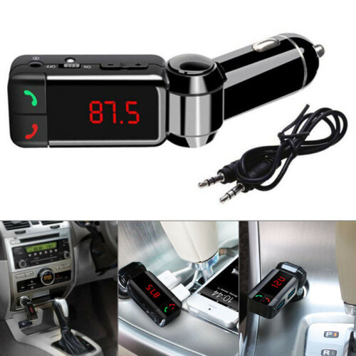 Bluetooth In-Car MP3  Wireless FM Transmitter Dual USB Charger Kit