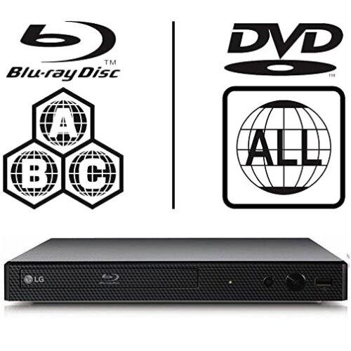 LG BP250 Blu-ray Player, Fully Region Free, Blu-ray + DVD Multiregion
