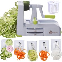 Brieftons Strongest-and-Heaviest Duty Vegetable 5-Blade Spiralizer (BR-5B-02)