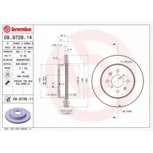 Front Pair (2x) of Brake Disc BREMBO 09.9728.11