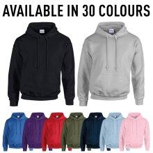 Gildan Mens Plain Heavy Blend Pullover Hooded Jumper Hoody Sweatshirt Hoodie