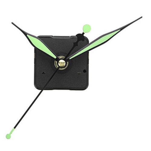 3pcs 20mm Shaft Length Green and Black Luminous Hands DIY Silent Quartz Clock Wall Movement Replacement Mechanism