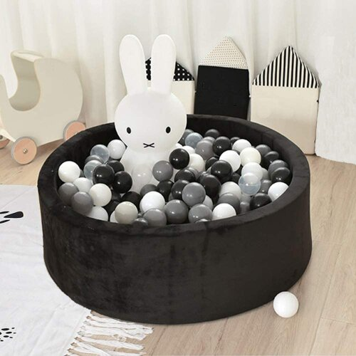 Kids Foam Ball Pit Pool Soft Round Playpen for Toddler w/ 200 Balls
