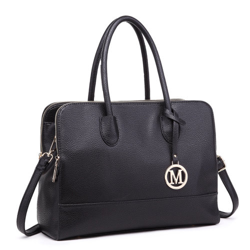Miss Lulu Women's Faux Leather Laptop Handbag