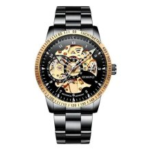 Men's Stainless Steel Skeleton Watch