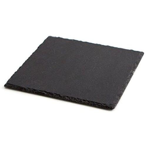 Ardoise Tableware Slate Square Serving Platter - 20x20cm | Cheese Board