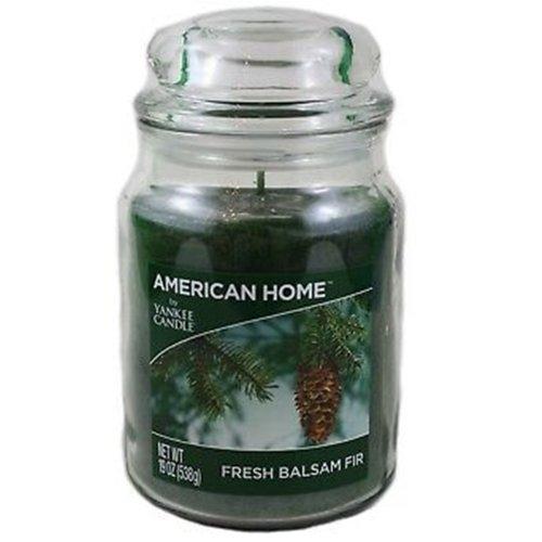 (Fresh Balsam Fir) Yankee Candle 'American Home' ScentedLarge Jar Candle- 538g