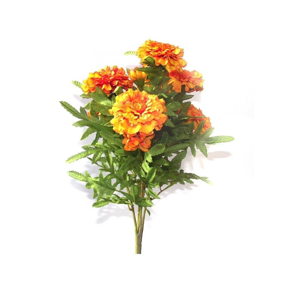 Spring and Summer Plant Artificial Orange Marigold Bush