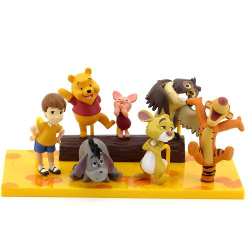 7pcs Winnie the Pooh Tiger Pig Bear Figure Toy Scene Cake Decoration