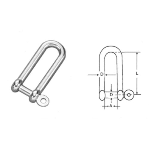 2 5mm STAINLESS STEEL 316 A4 Twisted shackle Pack Size