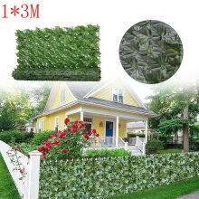 3M Artificial Ivy Leaf Hedge Roll Privacy Fence Screen Green Cover