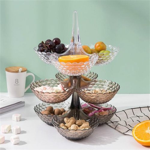 (1 LAYER-CLEAR) European Fruit Preservation Tray Dried Fruit Trays