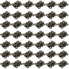 50pcs Butterfly Folding Butt Hinges Furniture Hardware Door Drawer Cabinet Hinge With 200pcs Screws