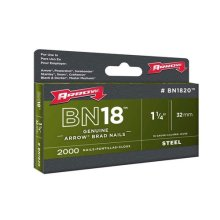 "Arrow BN1832 Brad Nails Size: 2"" - 50mm Pack: 1000"