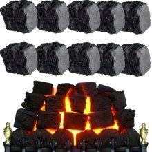 10 Replacement Gas Fire Coals Ceramic Fibre Imitation Effect Coal LARGE 60mm REEDS