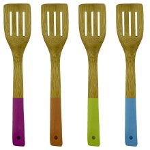 Trading Innovation Bamboo Slotted Spatula   Easy to Hold   Cooking Utensils Kitchen Tools Wooden Spatulas Ideal for Cooking, Multi-Purpose Food Turner