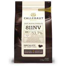Callebaut dark chocolate chips (callets) 54% - 1kg bag