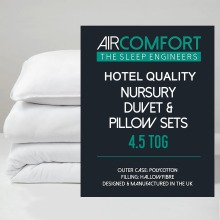 AirComfort Hollowfibre Nursery Duvet and Pillow