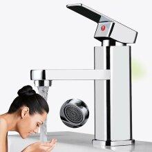 Bathroom Basin Sink Tap Monobloc Mixer Taps Faucet Waterfall Chrome