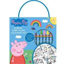 Peppa Pig Girls Bumper Carry Along Colouring Set