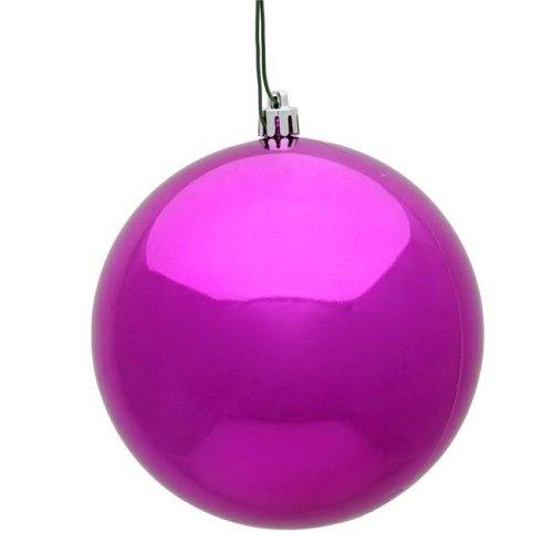 Vickerman N596070S 2.4 in. Fuchsia Shiny Christmas Ornament Ball - 60 per Box