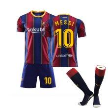 Messi #10 Home 2020/2021 New Season Men's Barcelona Soccer T-Shirts Jersey Set