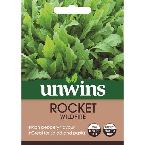 Unwins Grow Your Own Deep Green Rich Peppery Wildfire Rocket Seeds