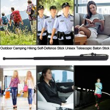 Outdoor Camping Hiking Self-Defence Stick Unisex Telescopic Baton Stick