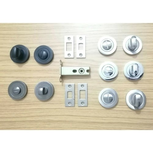 Matt Black Bathroom Thumb Turn /& Release with 76mm Deadbolt Lock Bolt Toilet Door Set