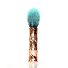 Multi-Functional Cosmetic Tool With Single Bamboo Handle Rose Gold
