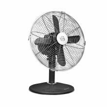 Swan Black Retro 12 Inch 35W Oscillating Desk Fan with Low Noise Function & 3 Speed Settings