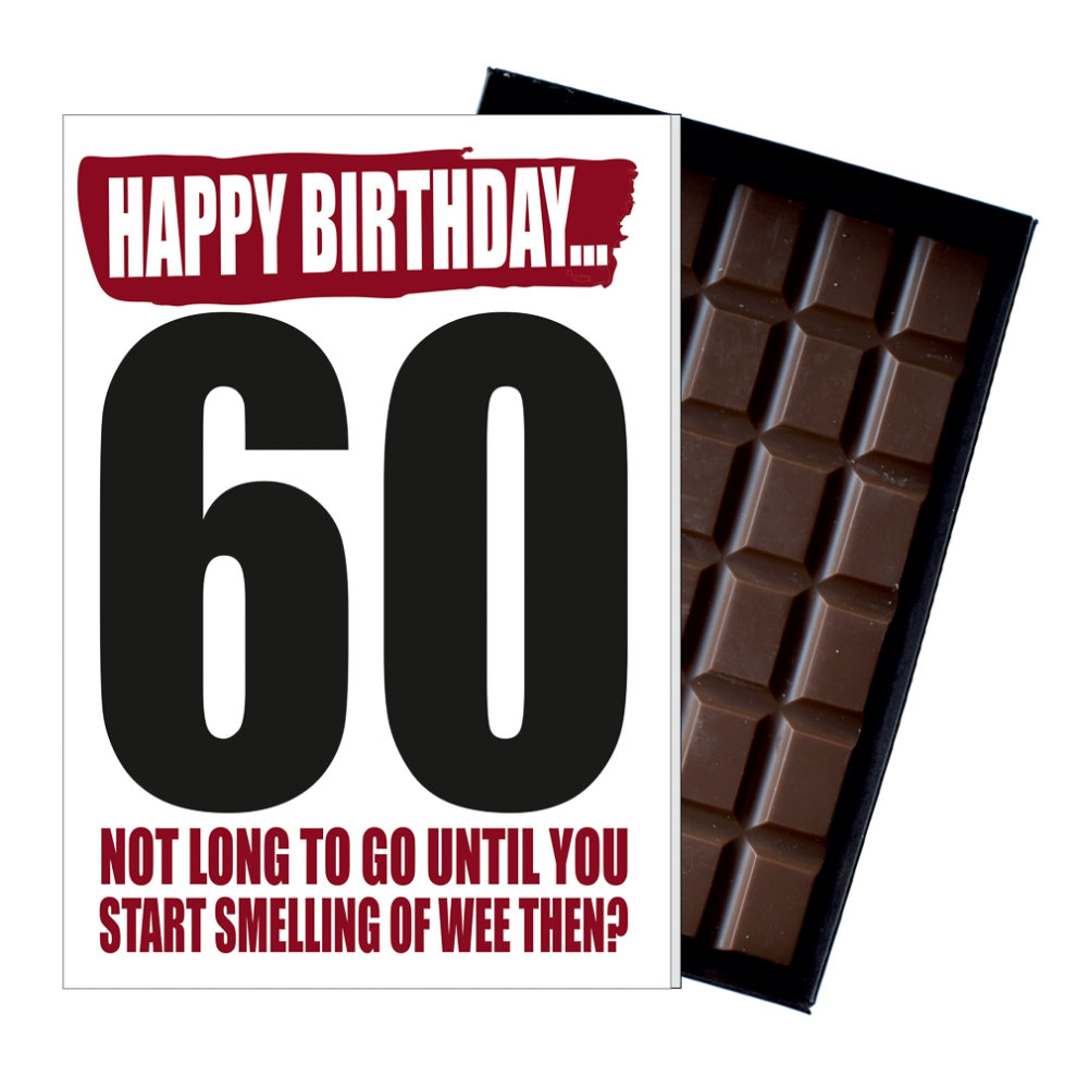 Funny 60th Birthday Gift For Men Women Rude Present Chocolate