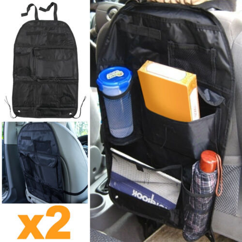 2x Car Back Seat Organiser Multi Pocket Storage Travel Tidy Bag Holder Kids Toy