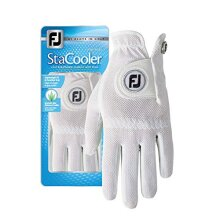 FootJoy Womens Stacooler golf glove, Pearl Small, Worn on Left Hand