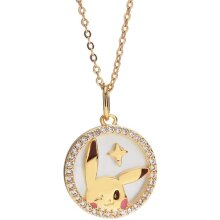 18K Gold plated 925 Sterling Silver Pendant Necklace 18â Chain Jewelry(Pikachu)