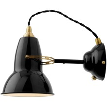 Anglepoise Original 1227 Brass Wall Light, Jet Bla
