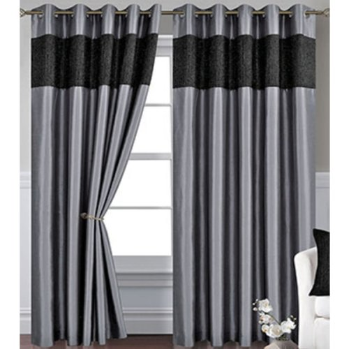 Silver Eyelet Curtains 72s - Venice