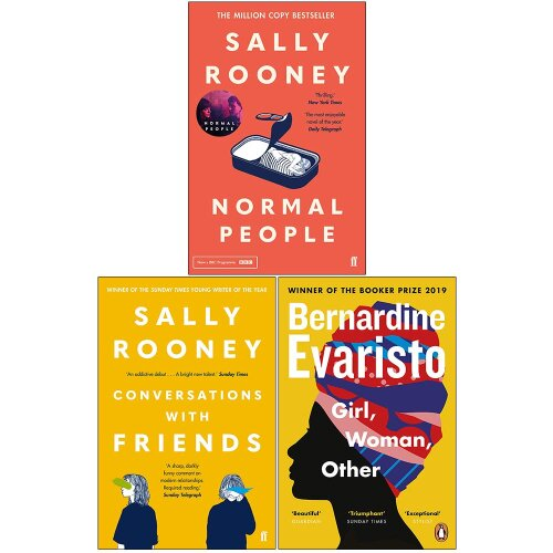 Normal People,Conversations with Friends,Girl Woman Other 3 Books Set