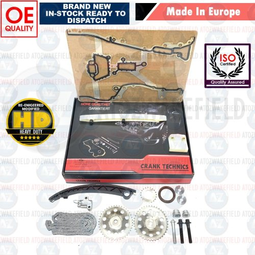 For VAUXHALL CORSA AGILA ASTRA MERIVA 1.0 1.2 1.4 TIMING CHAIN KIT GEARS GASKET