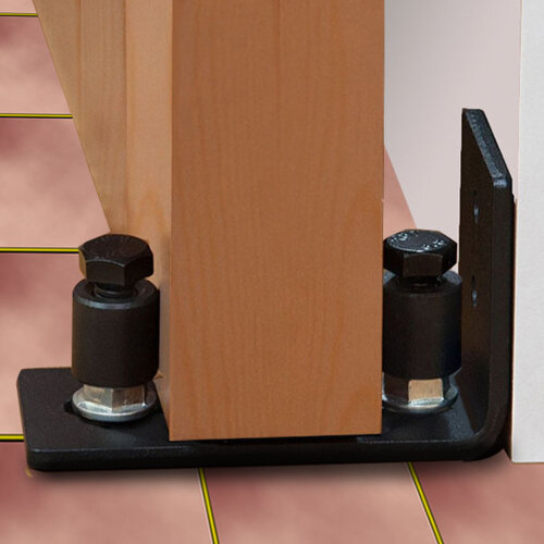 Adjustable Stopper Heavy Duty sliding door bottom roller Guide Hardware Wall