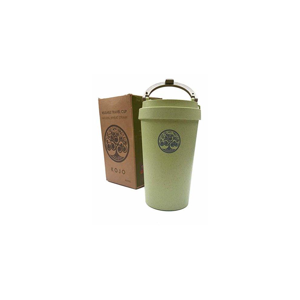 Details about KOJO | Biodegradable Wheat StrawRice Husk| Travel MugReusable Coffee Cup 400ml
