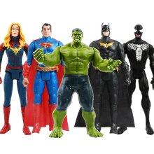 12,,/30cm Marvel Avengers Venom Batman Flash Superman , Spiderman , Thanos Hulk Iron Man , Thor Wolverine Action Figure Toys for Kid