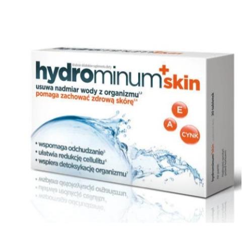Hydrominum + skin - 30 tabl. - odchudzanie, redukcja cellulitu, detoksykacja