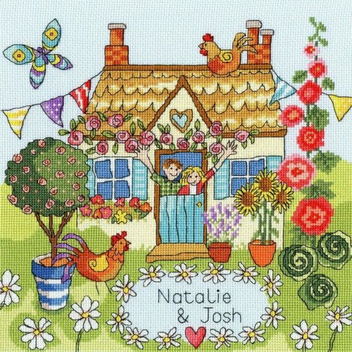 Stitch Garden 14 Count Aida Choice of size and colour