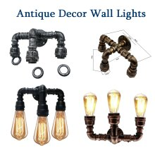 Water Iron Pipe Light Fixture Vintage Wall Light