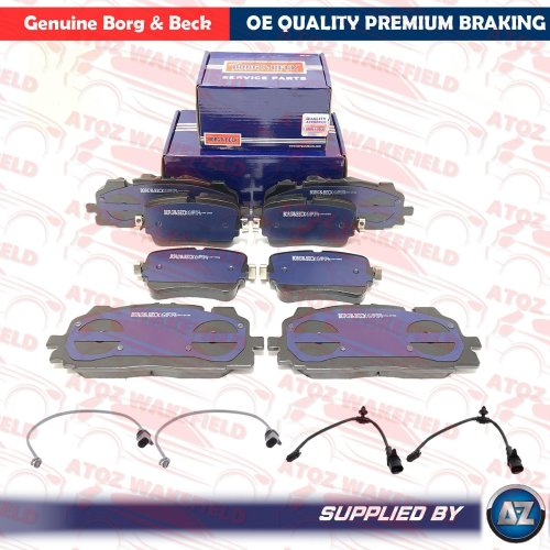 FOR AUDI Q7 FRONT REAR OE QUALITY BORG BECK BRAKE PADS WIRE SENSORS FR RR 2015-