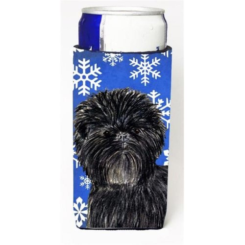 Affenpinscher Winter Snowflakes Holiday Michelob Ultra bottle sleeves For Slim Cans - 12 oz.