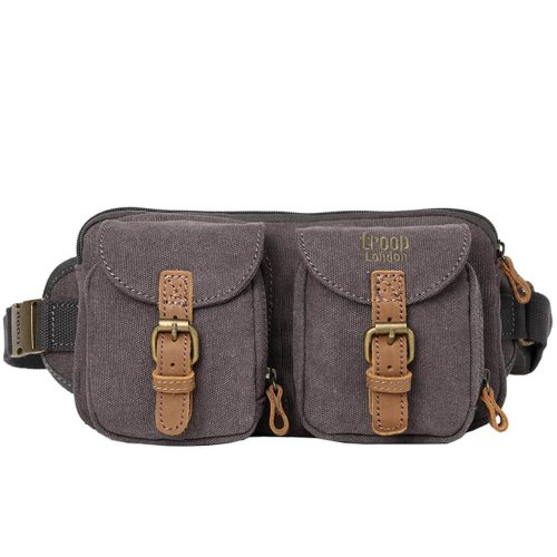 Troop London Classic Canvas Messenger Bag | Buy Bags Online | Canvas Messenger Bags | leather canvas backpack