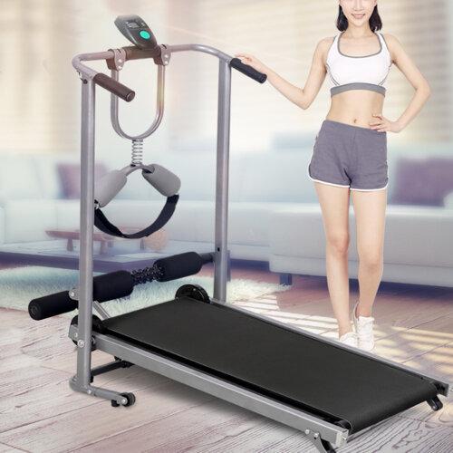 Foldable Manual Treadmill Walking Jogging Running Machine Exercise