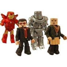 Marvel MiniMates Art Asylum Boxed Set Iron Man (Raza, Tony, BD Iron Monger and BD Iron Man)